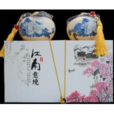 潮州鳳凰單叢茶 (鴨屎香抽濕型)【江南陶瓷罐禮盒裝】100克  ❖  款號 : 0620